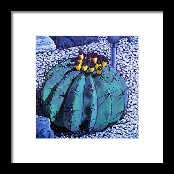 Nature Framed Print featuring the painting Barrel Buds by Snake Jagger