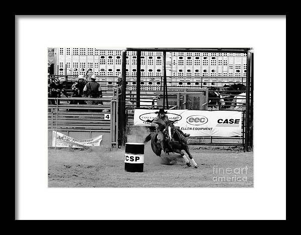 Rodeo Framed Print featuring the photograph Barrel Racer by Susan Chandler