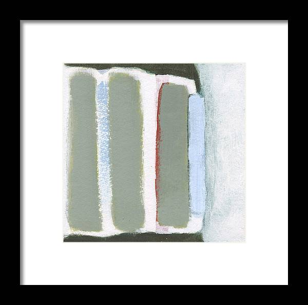 Abstract Framed Print featuring the painting Bars 1 by Alice Kirkpatrick