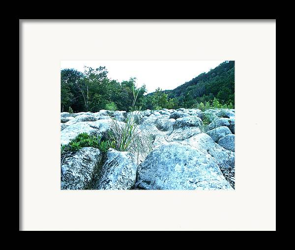 Texas Framed Print featuring the photograph Barton Creek Dried Up by Chuck Taylor