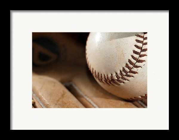 Baseball Framed Print featuring the photograph Baseball by Felix M Cobos