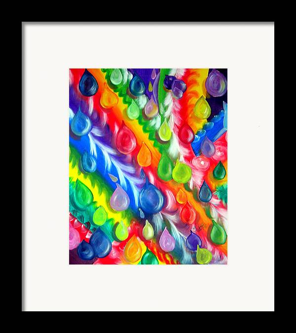 Abstract Framed Print featuring the painting Basic Abstraction by Kathern Welsh