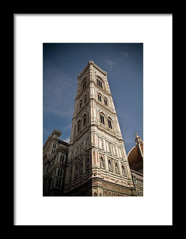 Italy Framed Print featuring the photograph Basilica Di Santa Maria Del Fiore Tower by Carl Jackson