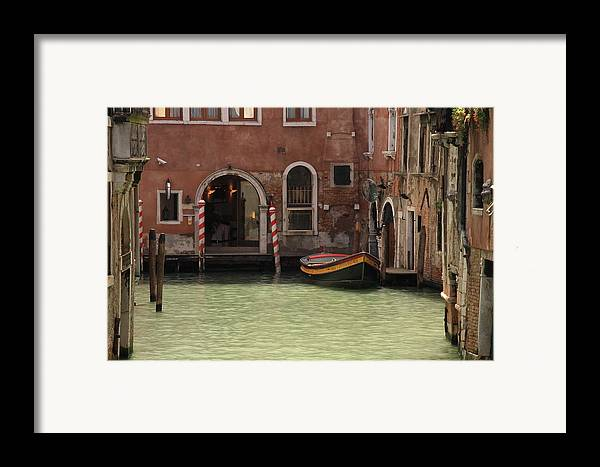Venice Framed Print featuring the photograph Basin In Venice by Michael Henderson