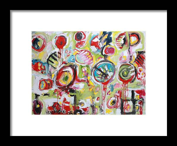 Abstract Painting Framed Print featuring the painting Basket Of Fruit by Michael Henderson
