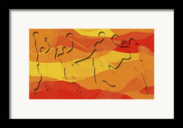 Basketball Framed Print featuring the photograph Basketball Players Abstract by David G Paul