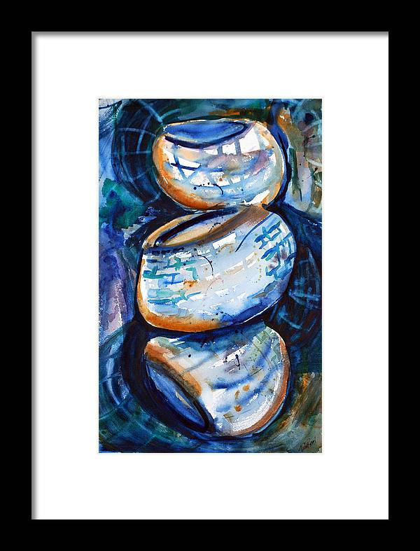 Baskets Framed Print featuring the painting Baskets Study by Neva Rossi