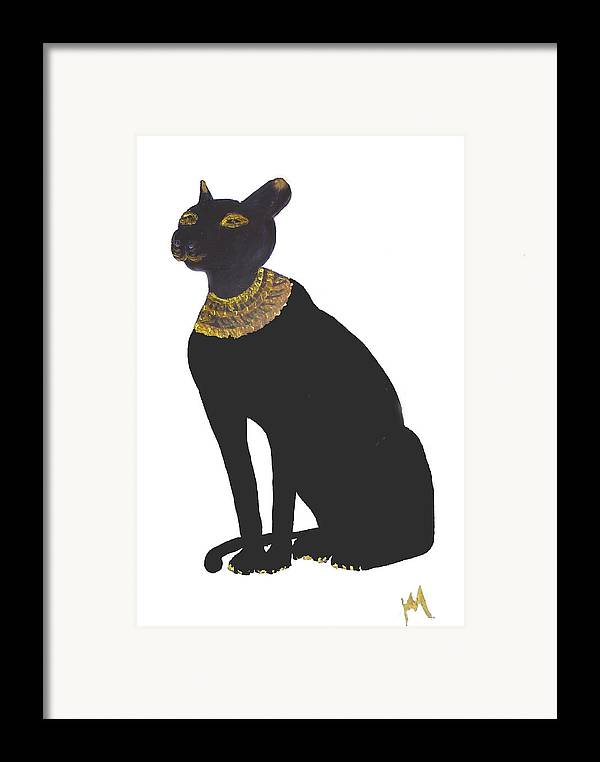 Egypt Framed Print featuring the painting Bast Goddess Of Love by Michela Akers