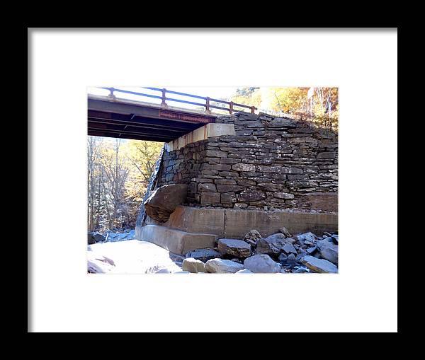 Bastion Falls Bridge Framed Print featuring the painting Bastion Falls Bridge 3 by Jeelan Clark