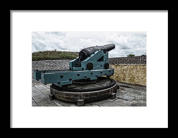 Cannon Framed Print featuring the photograph Bastion Gun by Dale Powell