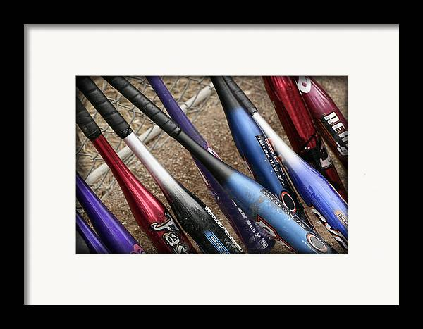Softball Framed Print featuring the photograph Bat Collection by Kelley King