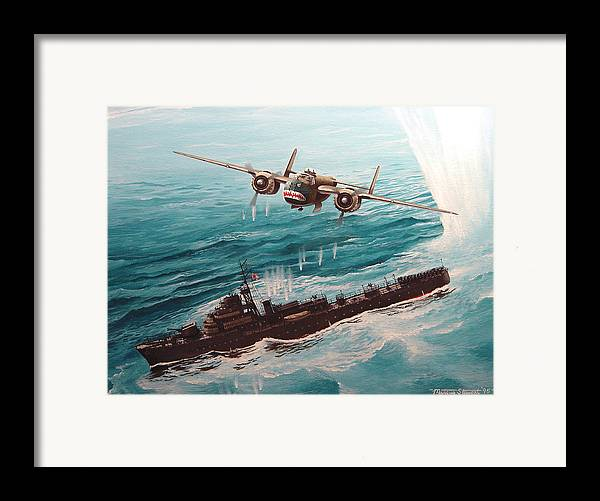 Military Framed Print featuring the painting Bat Outta Hell by Marc Stewart