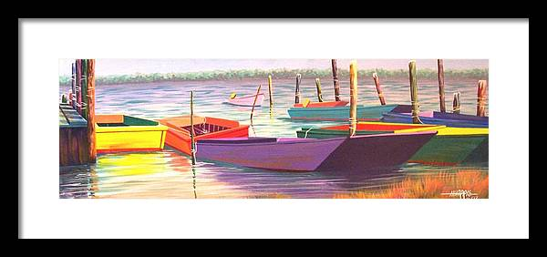 Boats Framed Print featuring the painting Bateau Mystique by Hugh Harris
