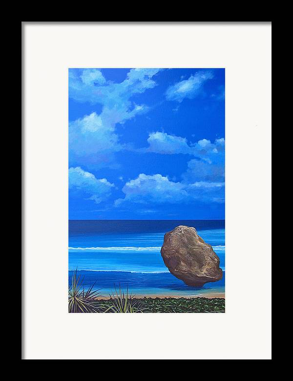 Barbados Framed Print featuring the painting Bathsheba by Hunter Jay