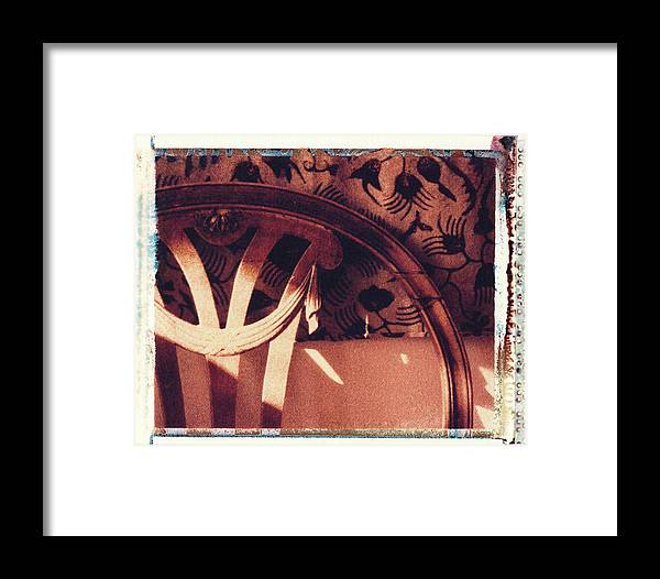 Polaroid Transfer Framed Print featuring the photograph Batik by Bernice Williams