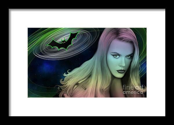 Uzart Framed Print featuring the digital art Batman And Nicole #0070 by Urszula Zogman