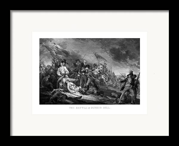 Revolutionary War Framed Print featuring the mixed media Battle Of Bunker Hill by War Is Hell Store