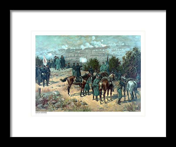 Missionary Ridge Framed Print featuring the painting Battle Of Chattanooga by War Is Hell Store