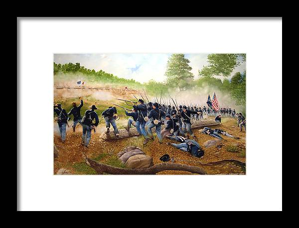 Civil War Framed Print featuring the painting Battle Of Utoy Creek by Marc Stewart