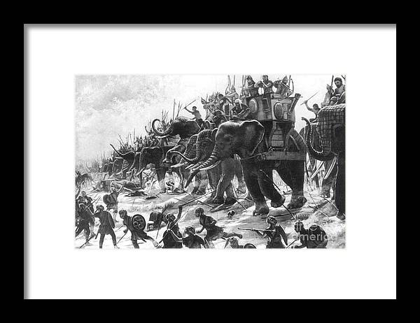 History Framed Print featuring the photograph Battle Of Zama, Hannibals Defeat by Photo Researchers