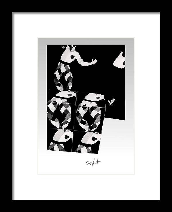 Dance Framed Print featuring the photograph Bauhaus Ballet 2 The Cubist Harlequin by Charles Stuart
