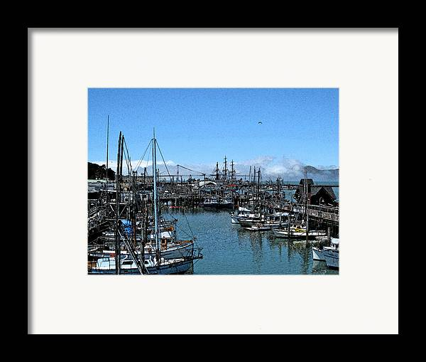 Golden Gate Bridge Framed Print featuring the photograph Bay Fresco by Jerry Patchin