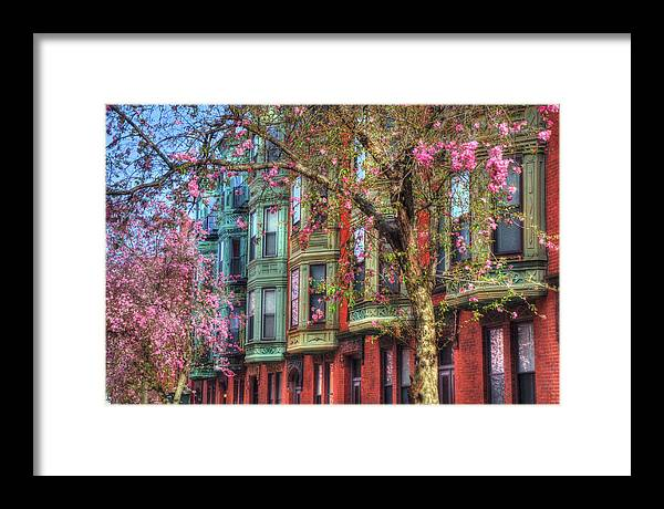 Boston Framed Print featuring the photograph Bay Village Row Houses - Boston by Joann Vitali