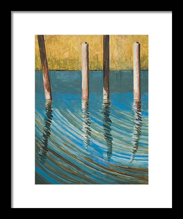 Tidal Waters Framed Print featuring the painting Bayland Reflections by Terry Eden