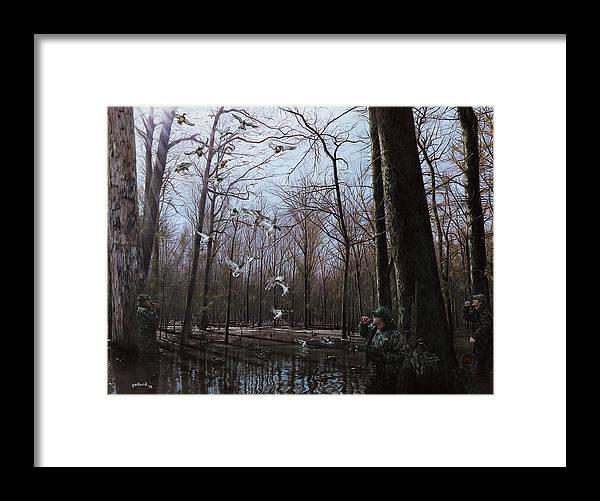 Ducks Framed Print featuring the painting Bayou Meto Morning by Glenn Pollard