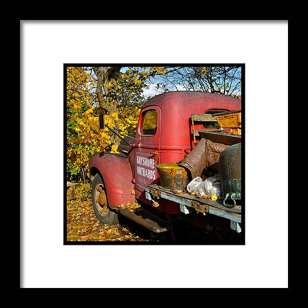 Truck Framed Print featuring the photograph Bayshore Orchards by Tim Nyberg