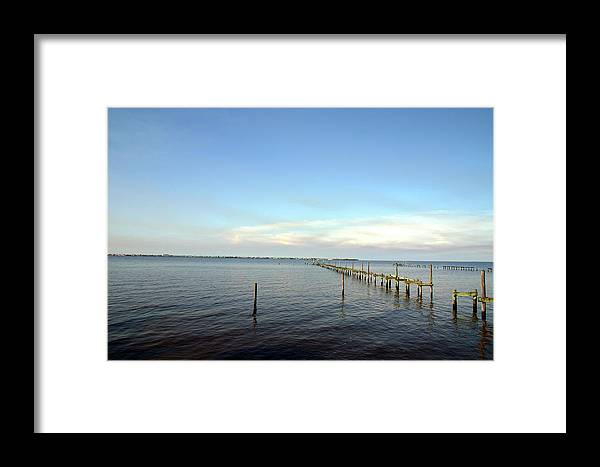 Gulf Framed Print featuring the photograph Bayshore Road Port Charlotte by Francesco Roncone