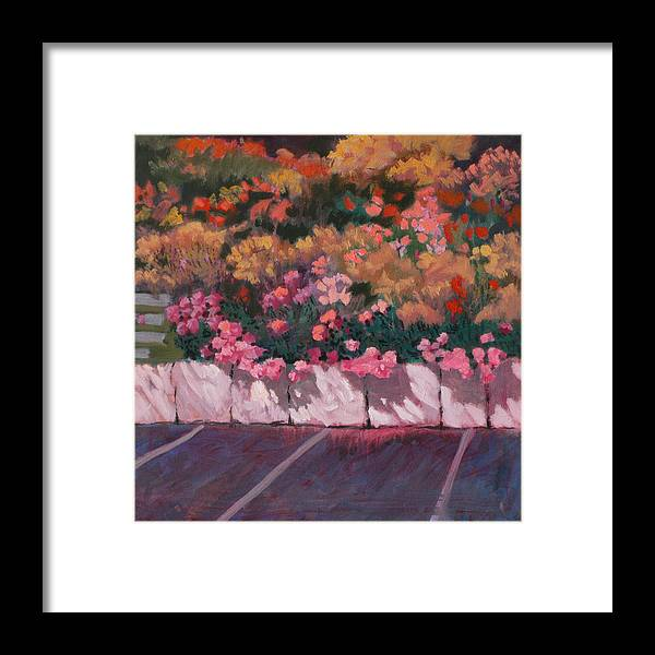 Flowers Framed Print featuring the painting Bayside Flowers by Robert Bissett
