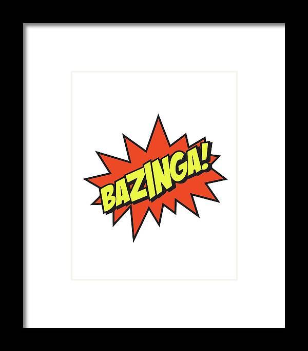 Bazinga Framed Print featuring the mixed media Bazinga by Studio Grafiikka