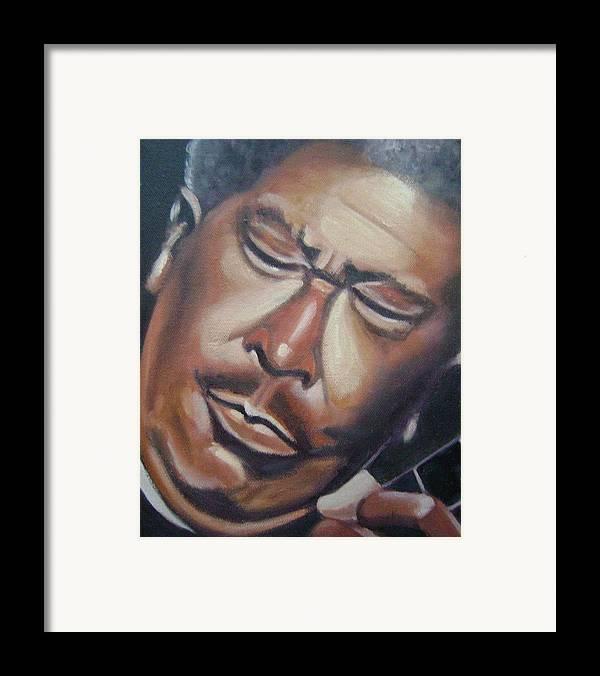 B.b. King Framed Print featuring the painting B.b. King by Toni Berry