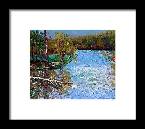 Original Oil On Canvas Framed Print featuring the painting Bcsp 4-26 by Stan Hamilton