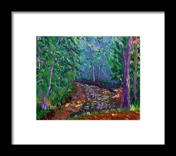 Original Oil On Canvas Framed Print featuring the painting Bcsp 9-20 by Stan Hamilton