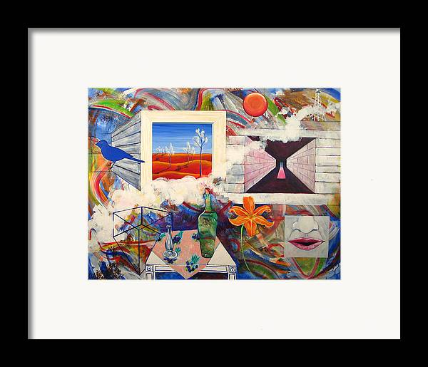 Landscape Framed Print featuring the painting Be Here Now by Rollin Kocsis