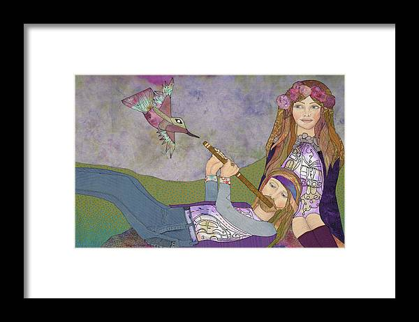 Grateful Dead Framed Print featuring the mixed media Be In by Karen Payton