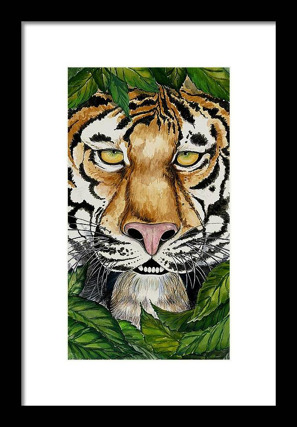 Art Framed Print featuring the painting Be Like A Tiger by Carol Sabo