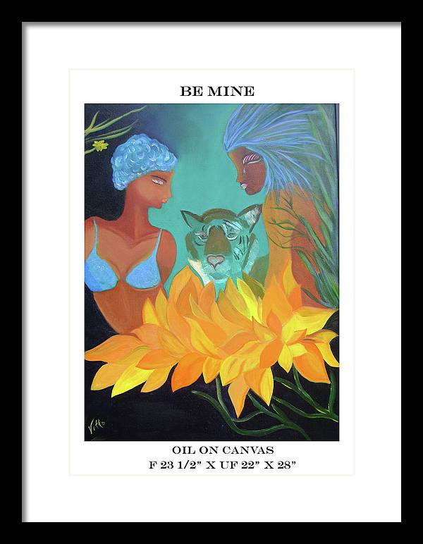 People Framed Print featuring the painting Be Mine by Gloria Vitto