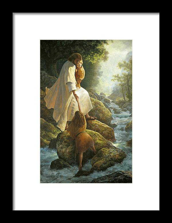 Jesus Framed Print featuring the painting Be Not Afraid by Greg Olsen