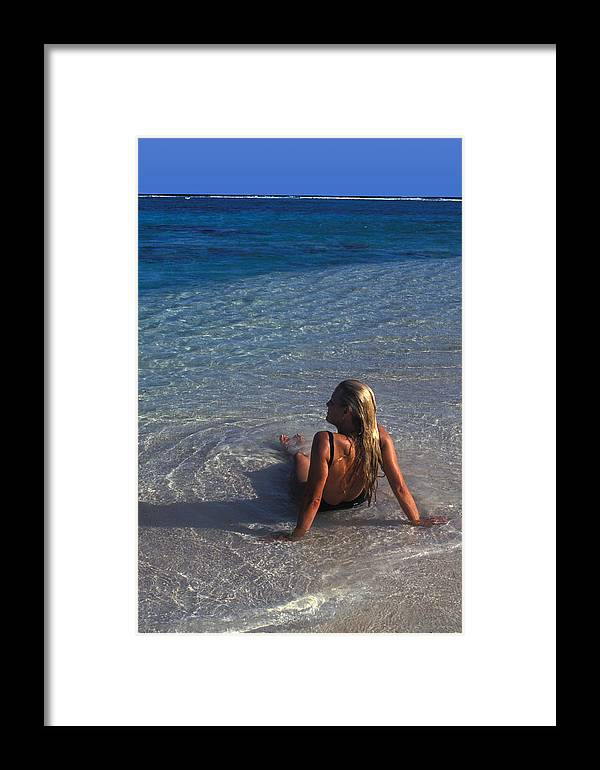 Beautiful Framed Print featuring the photograph Beach At Little Cayman by Carl Purcell