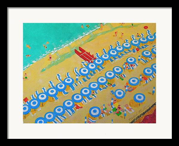 Beach Art Framed Print featuring the painting Beach At Sorrento by Art Mantia