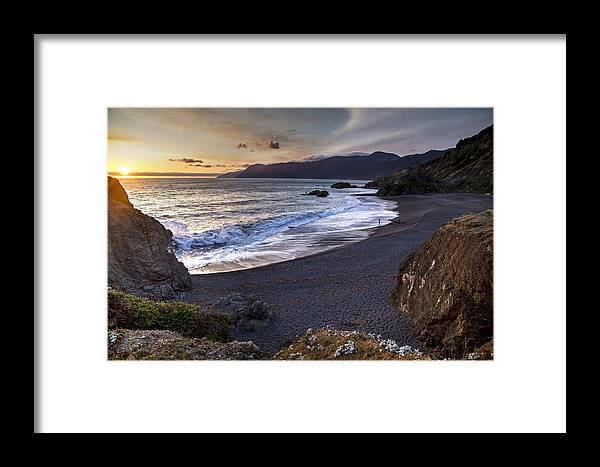 Beach Framed Print featuring the photograph Beach At Sunset by FL collection