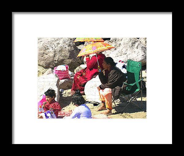 Beach Framed Print featuring the photograph Beach Babies 1 by Robin Hernandez