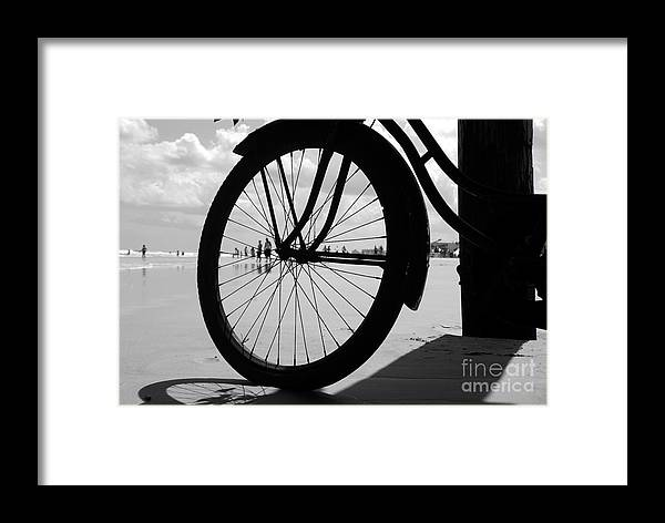 Beach Framed Print featuring the photograph Beach Bicycle by David Lee Thompson