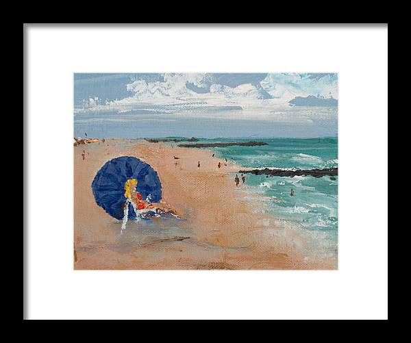 Ocean Framed Print featuring the painting Beach Blond by Pete Maier