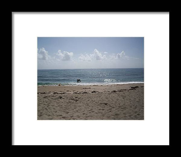 Surf Framed Print featuring the photograph Beach Bobbiong by Karen Thompson