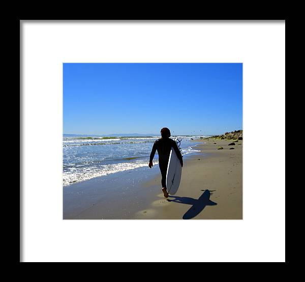 Sea Framed Print featuring the photograph Beach Boy 1 by Robin Hernandez