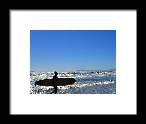 Beach Framed Print featuring the photograph Beach Boy 2 by Robin Hernandez